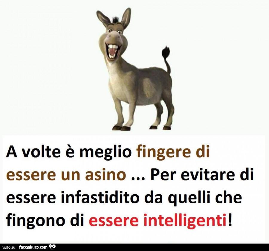 A volte è meglio fingere di essere un asino… per evitare di essere  infastidito… condiviso da Junio8 - Facciabuco.com