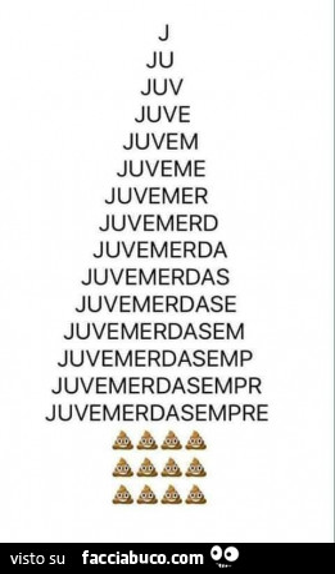 Albero Di Natale Juventus.Albero Di Natale Juve Merda Sempre Facciabuco Com